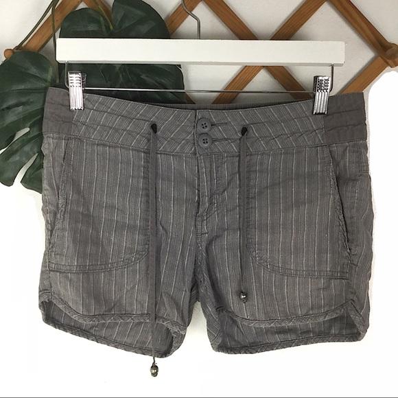 Prana Pants - Prana | Grey Cotton Hemp Shorts Size 6